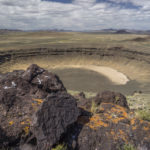 lunar crater overlook on the basin and range trail