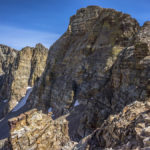 hiking the crest of the snake range, great basin national park along the basin and range trail
