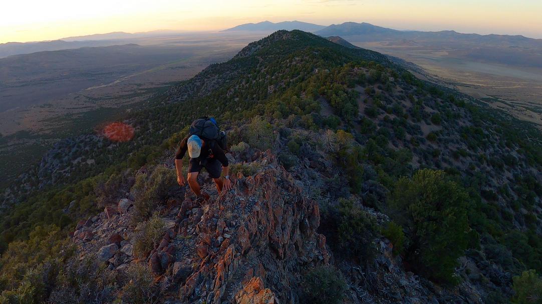 Hiking the Kinsley Range in Nevada along the Basin and Range Trail